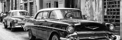 Cuba Fuerte Collection Panoramic BW - Old Cars Chevrolet