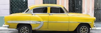 Cuba Fuerte Collection Panoramic - Yellow Bel Air Classic Car