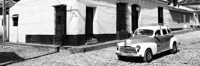 Cuba Fuerte Collection Panoramic BW - Trinidad Colorful Street Scene II