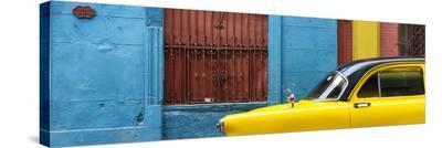 Cuba Fuerte Collection Panoramic - Close-up of Yellow Taxi of Havana