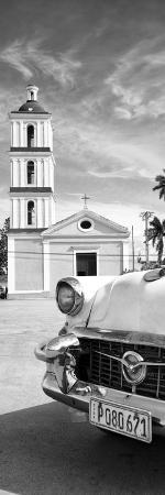 Cuba Fuerte Collection Panoramic BW - Church in Santa Clara II