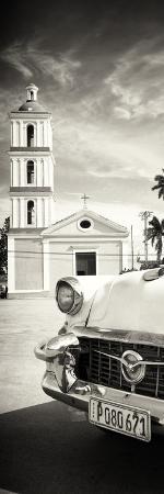 Cuba Fuerte Collection Panoramic BW - Church in Santa Clara