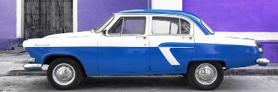 Cuba Fuerte Collection Panoramic - American Classic Car White and Blue