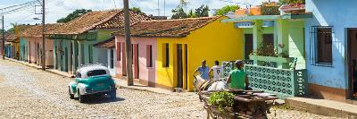 Cuba Fuerte Collection Panoramic - Trinidad Colorful Street Scene IV