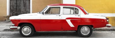 Cuba Fuerte Collection Panoramic - American Classic Car White and Red