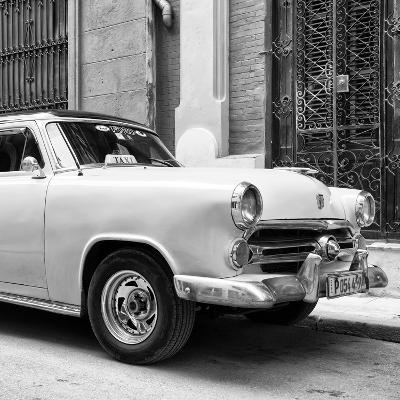 Cuba Fuerte Collection SQ BW - Close-up of Yellow Taxi of Havana