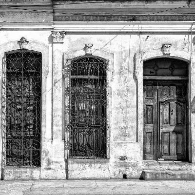 Cuba Fuerte Collection SQ BW - Old Cuban Facade