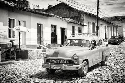 Cuba Fuerte Collection B&W - Cuban Taxi in Trinidad II