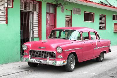 Cuba Fuerte Collection - Beautiful Classic American Pink Car