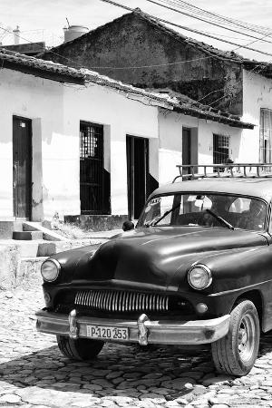 Cuba Fuerte Collection B&W - Cuban Taxi in Trinidad III