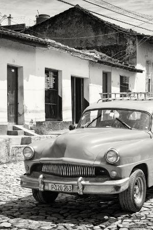 Cuba Fuerte Collection B&W - Cuban Taxi in Trinidad IV