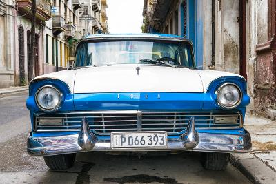 Cuba Fuerte Collection - Old Ford Blue Car