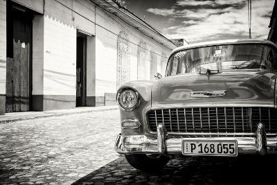Cuba Fuerte Collection B&W - 1955 Chevy Classic Car
