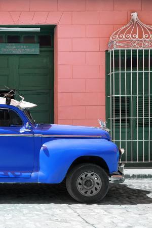 Cuba Fuerte Collection - Close-up of Blue Vintage Car