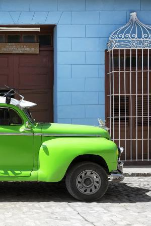 Cuba Fuerte Collection - Close-up of Green Vintage Car