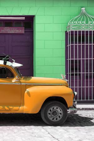 Cuba Fuerte Collection - Close-up of Orange Vintage Car
