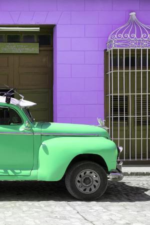 Cuba Fuerte Collection - Close-up of Green Vintage Car in Trinidad