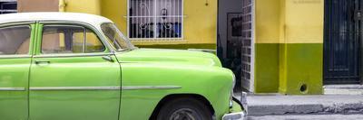 Cuba Fuerte Collection Panoramic - Vintage Green Car of Havana