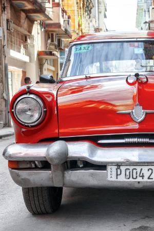 Cuba Fuerte Collection - Red Taxi of Havana II