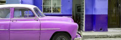 Cuba Fuerte Collection Panoramic - Vintage Hot Pink Car of Havana