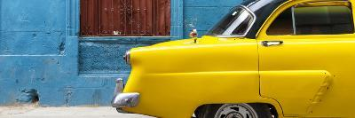 Cuba Fuerte Collection Panoramic - Close-up of Yellow Taxi of Havana II