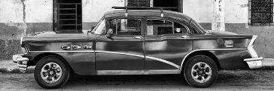 Cuba Fuerte Collection Panoramic BW - Havana Classic American Car