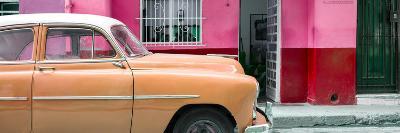 Cuba Fuerte Collection Panoramic - Vintage Orange Car of Havana