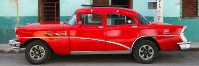 Cuba Fuerte Collection Panoramic - Havana Classic American Red Car