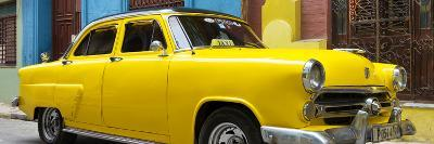 Cuba Fuerte Collection Panoramic - Close-up of Yellow Taxi of Havana III
