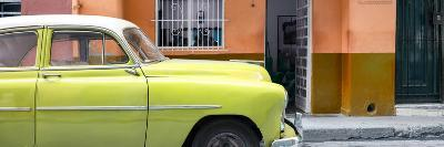 Cuba Fuerte Collection Panoramic - Vintage Lime Green Car of Havana
