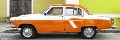 Cuba Fuerte Collection Panoramic - American Classic Car White and Orange