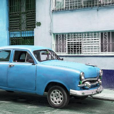 Cuba Fuerte Collection SQ - Old Blue Car in the Streets of Havana