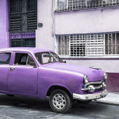Cuba Fuerte Collection SQ - Old Purple Car in the Streets of Havana