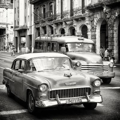 Cuba Fuerte Collection SQ BW - Taxi Cars Havana