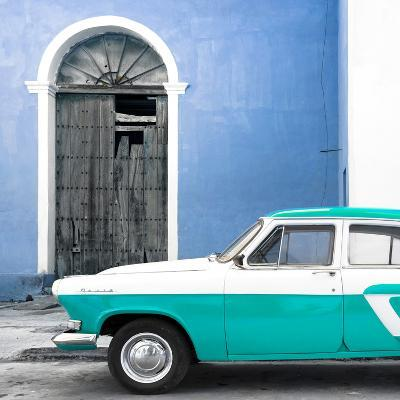 Cuba Fuerte Collection SQ - American Classic Car White and Turquoise