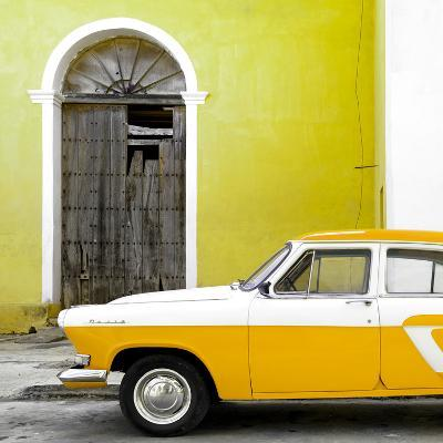 Cuba Fuerte Collection SQ - American Classic Car White and Yellow