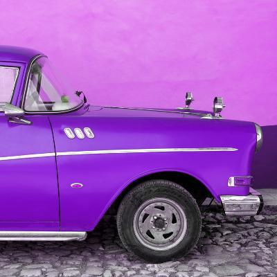 Cuba Fuerte Collection SQ - Close-up of Retro Purple Car