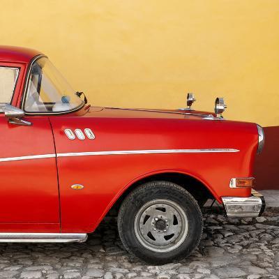 Cuba Fuerte Collection SQ - Close-up of Retro Red Car