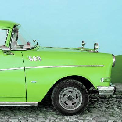 Cuba Fuerte Collection SQ - Close-up of Retro Green Car