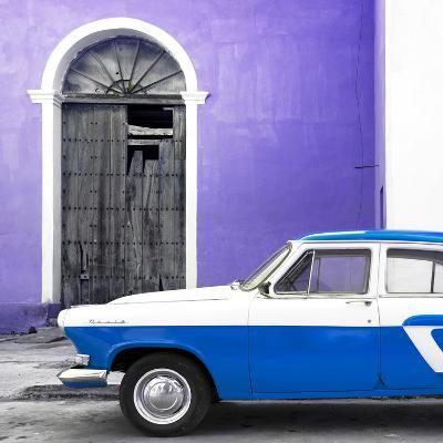 Cuba Fuerte Collection SQ - American Classic Car White and Blue
