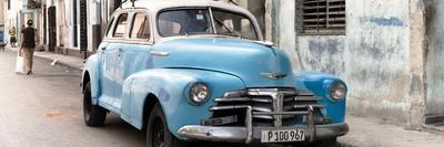 Cuba Fuerte Collection Panoramic - Old Blue Chevrolet in Havana