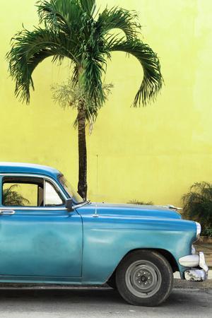 Cuba Fuerte Collection - Close-up of Beautiful Retro Blue Car