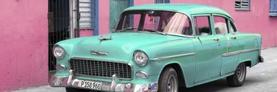 Cuba Fuerte Collection Panoramic - Beautiful Classic American Turquoise Car