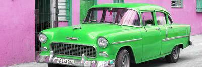 Cuba Fuerte Collection Panoramic - Beautiful Classic American Green Car