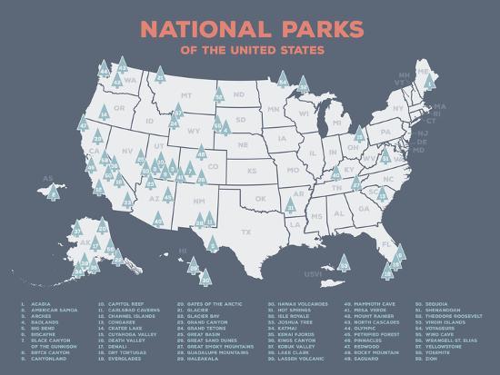 Us National Park Map