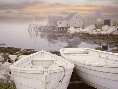 Two Boats at Sunrise, Nova Scotia ?11