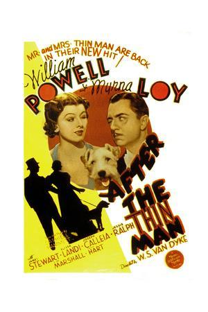After the Thin Man, Myrna Loy, Asta, William Powell, 1936