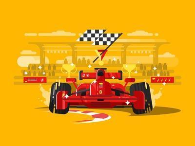 Sport Car in Race