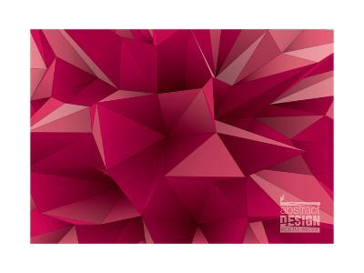 Abstract Triangular Crystalline Background, Low Poly Style Illustration