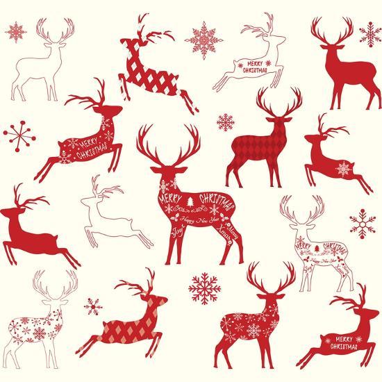 Christmas Reindeer Silhouette.Merry Christmas Reindeer Reindeer Silhouette Collections